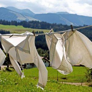 洗濯物が干してある
